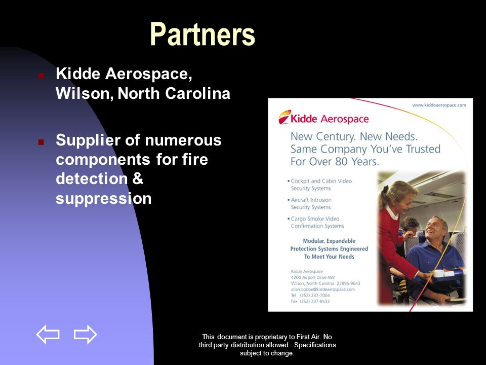 Partners Kidde Aerospace, Wilson, North Carolina