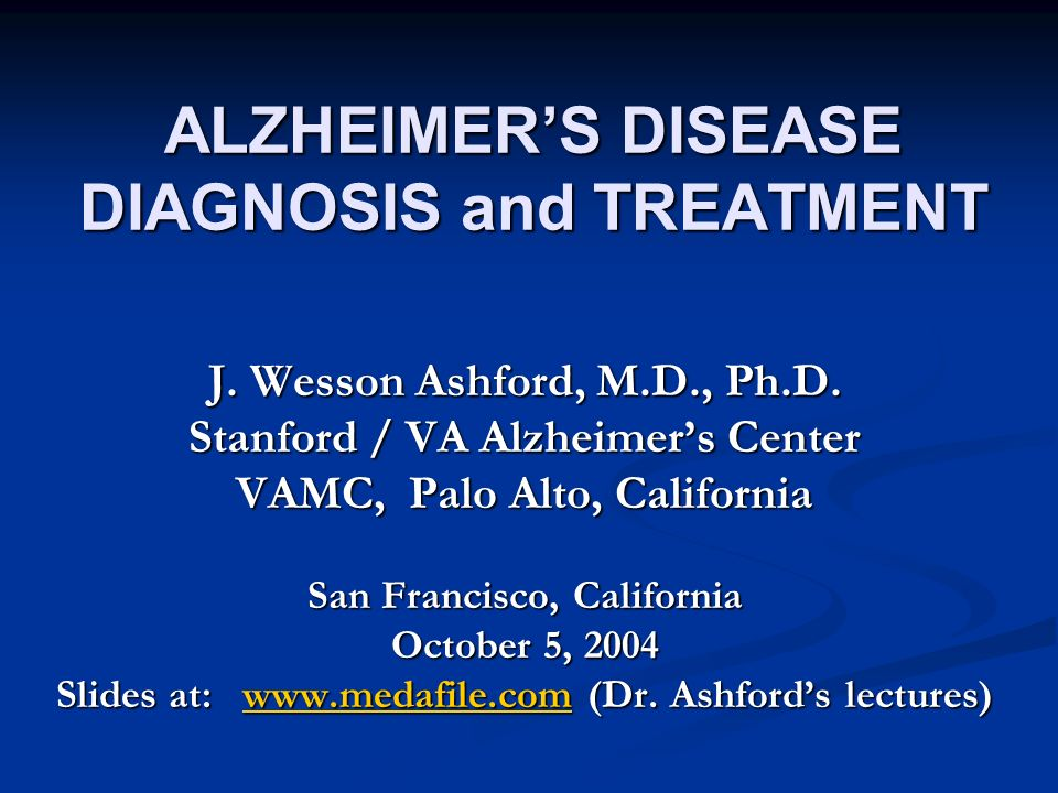 alzheimers disease diagnosis and treatment