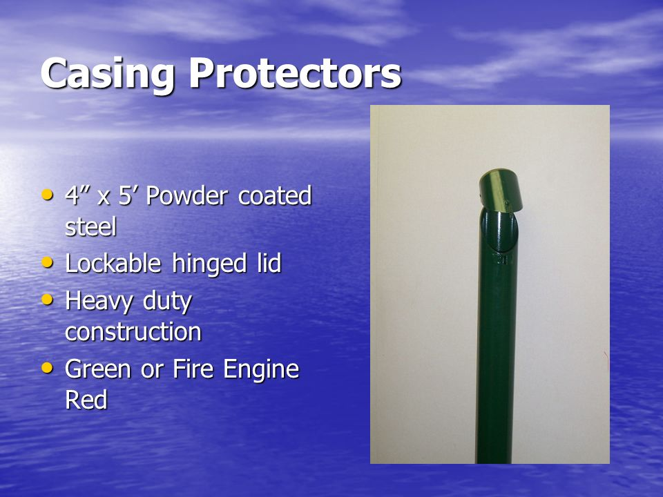 Casing Protectors 4 x 5' Powder coated steel Lockable hinged lid