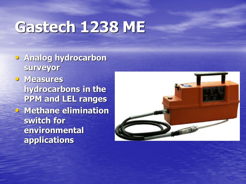 Gastech 1238 ME Analog hydrocarbon surveyor