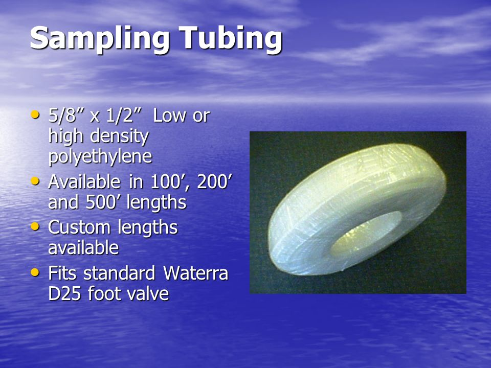 Sampling Tubing 5/8 x 1/2 Low or high density polyethylene