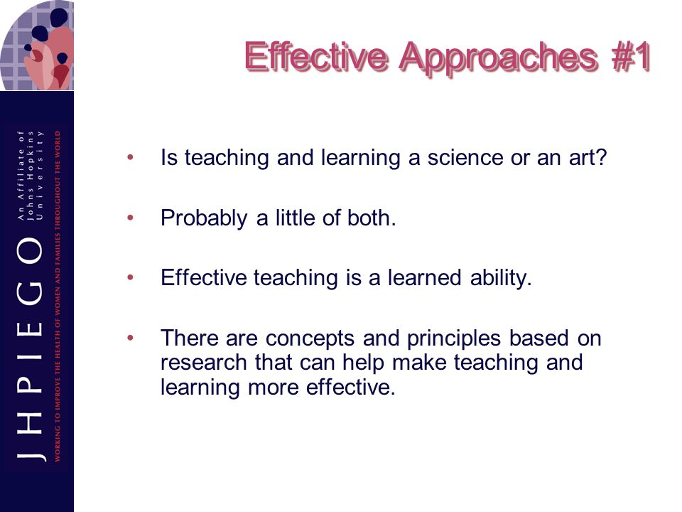 Effective Approaches #1