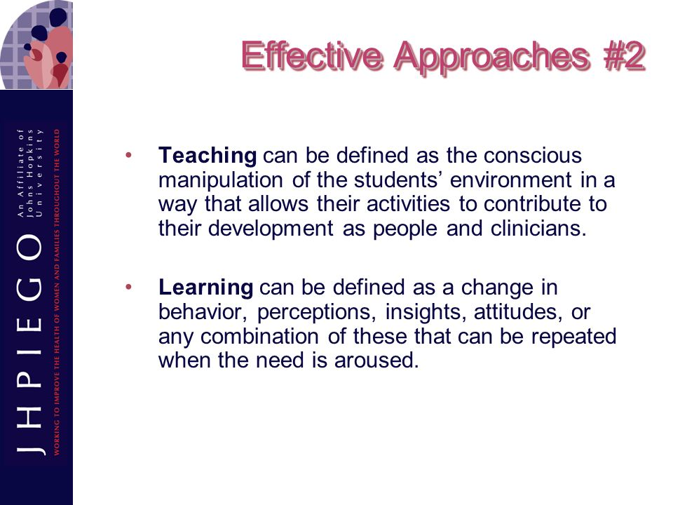 Effective Approaches #2