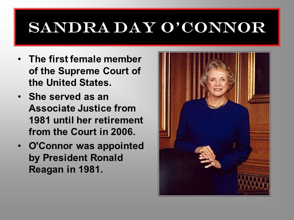 Image result for president announced the first female justice appointed in 1981