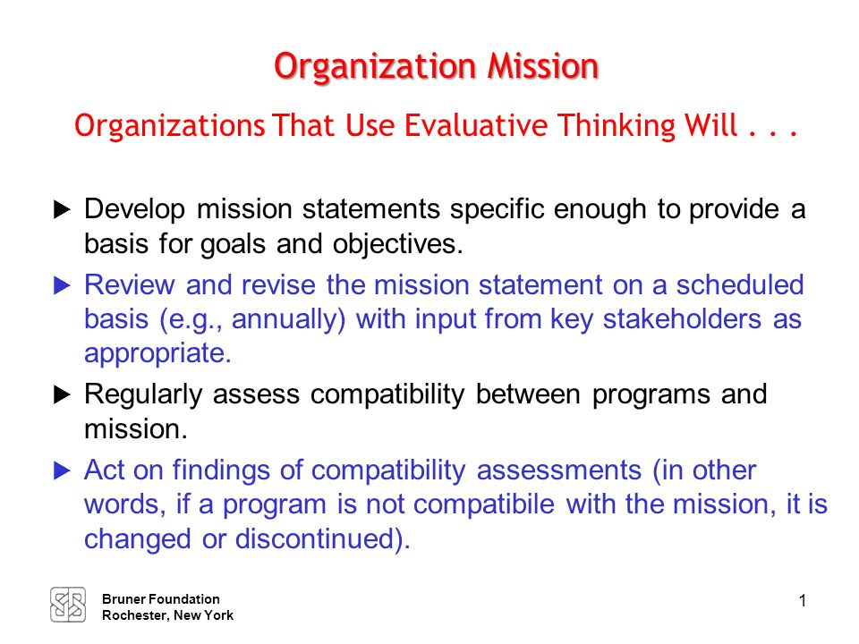 Strategic Planning Organizations That Use Evaluative Thinking Will . . .