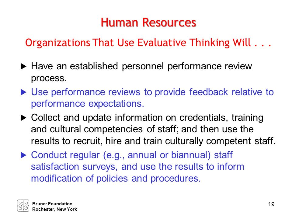 Business Venture Development Organizations That Use Evaluative Thinking Will . . .