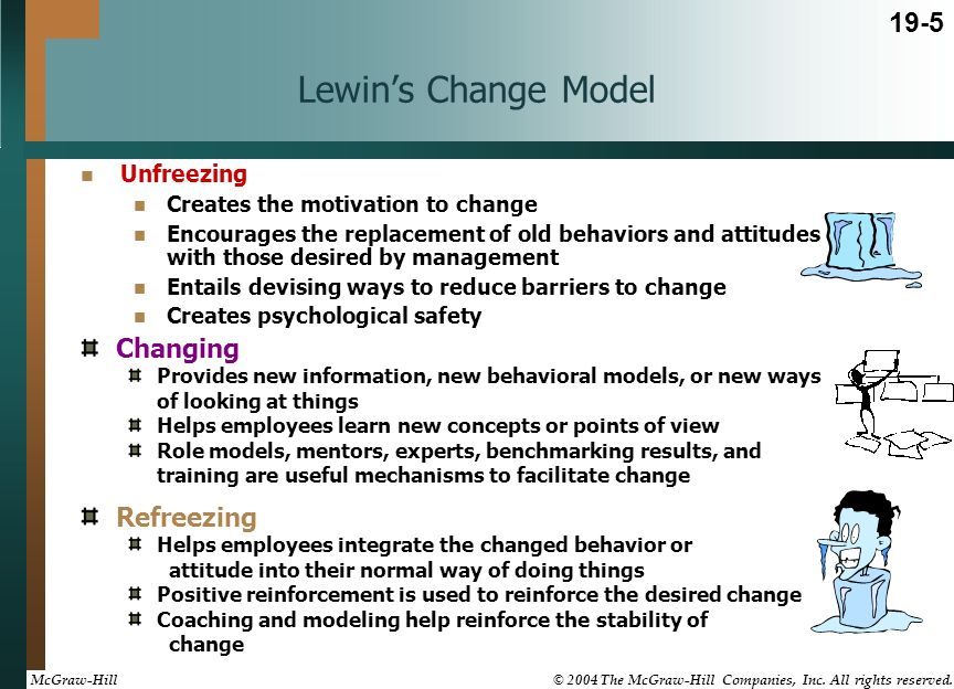 lewins change model strengths and weaknesses
