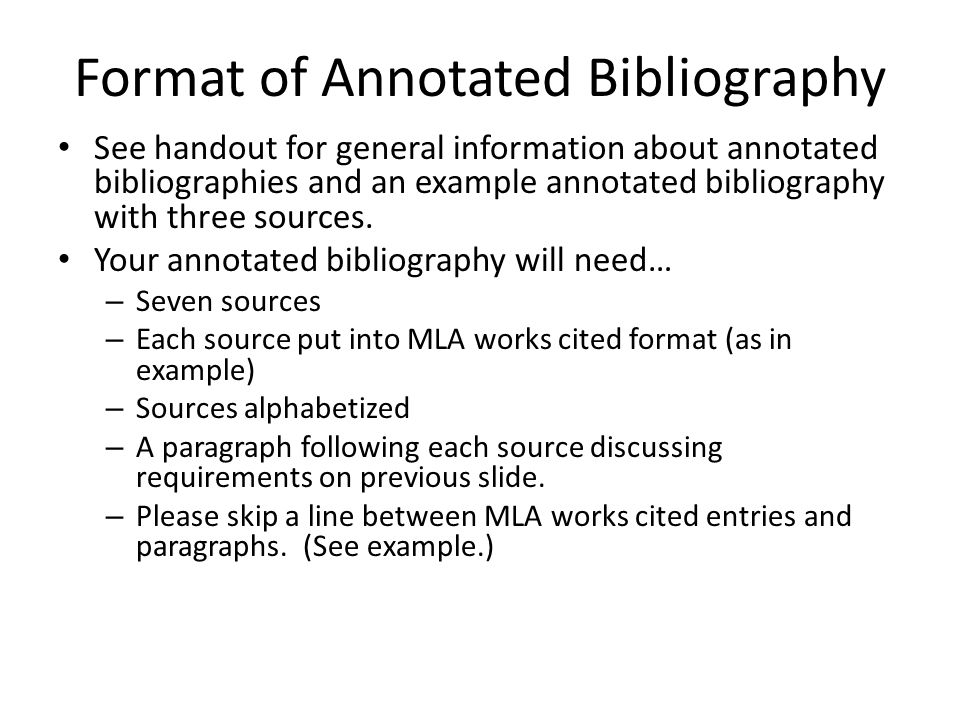 The Annotated Bibliography Ppt Video Online Download