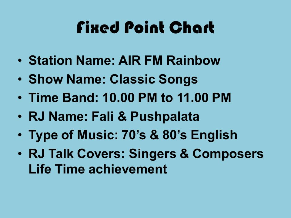 AIR FM RAINBOW AIR FM Rainbow is aired at frequency107 1 Mhz  - ppt