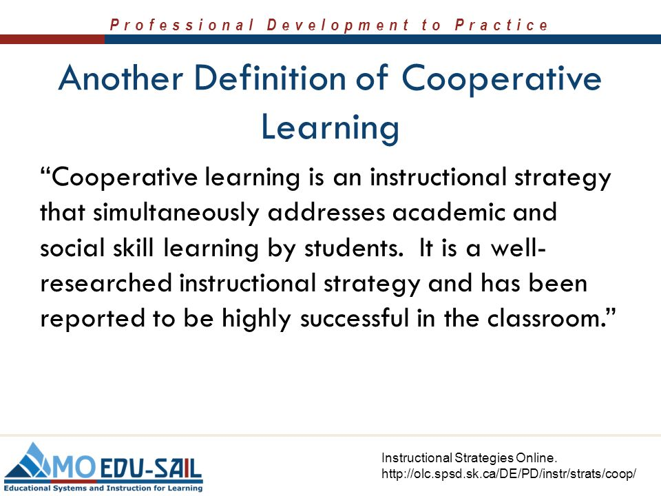 cooperative learning definition by experts