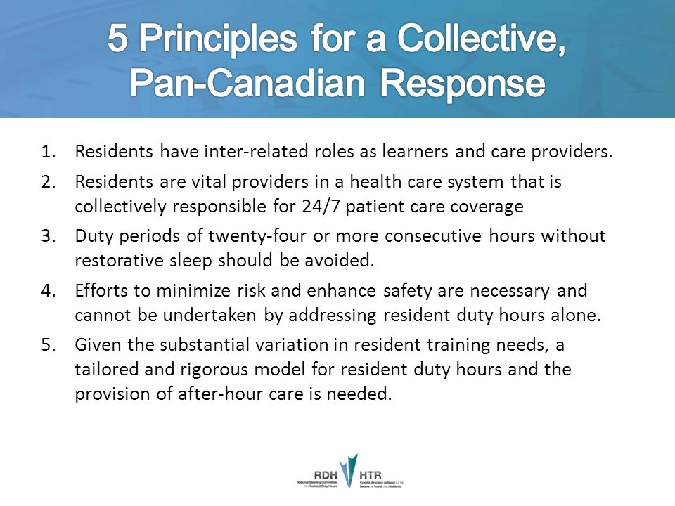 5 Principles for a Collective, Pan-Canadian Response