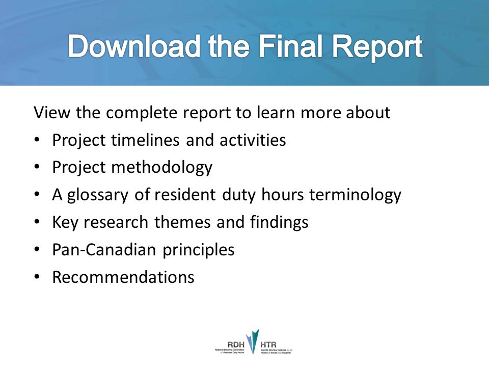 Download the Final Report