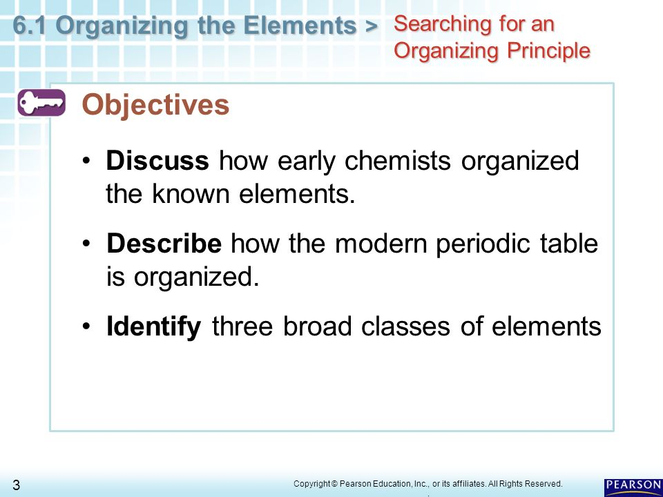 Chapter 6 The Periodic Table 61 Organizing The Elements Ppt Download