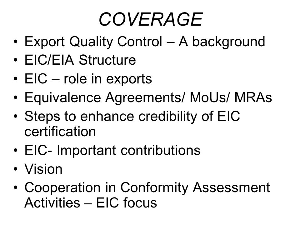 Quality Control Certification For Facilitating Exports Ppt Video