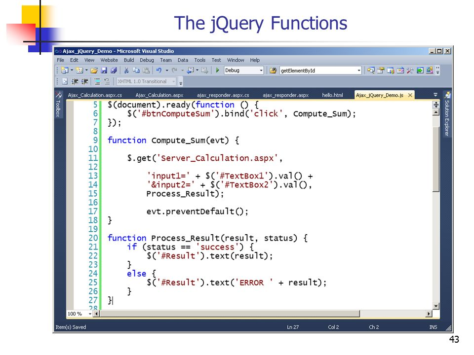 The jQuery Functions