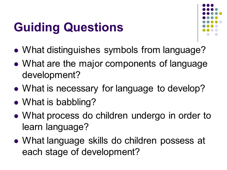 Development Of Language And Symbol Use Ppt Video Online Download