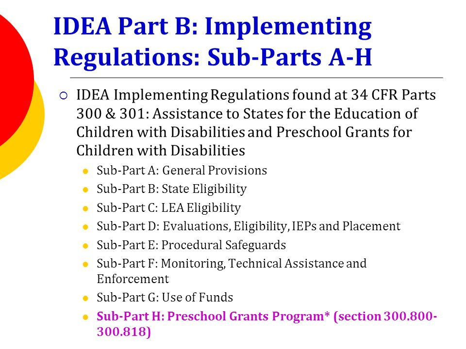 IDEA Section 619 IDEA Preschool Grants Program - ppt video