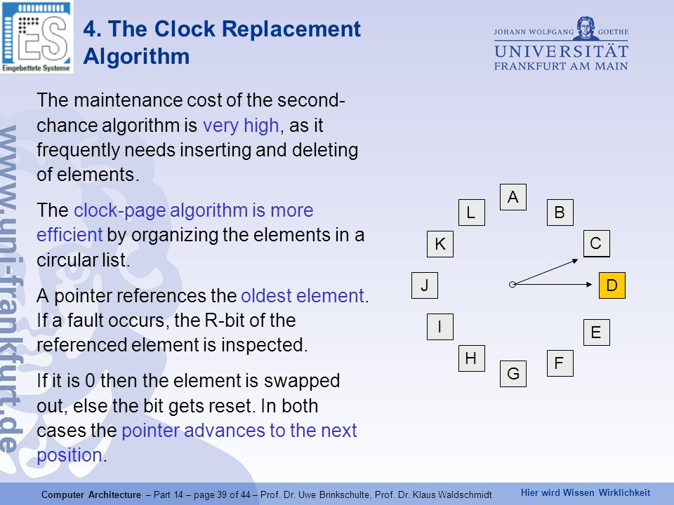 4. The Clock Replacement Algorithm