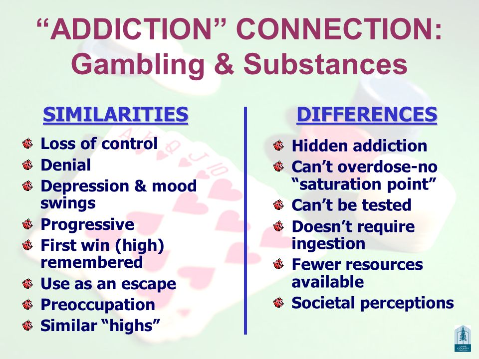 Gambling addiction cocaine similarities online sportsbook and casino gambling