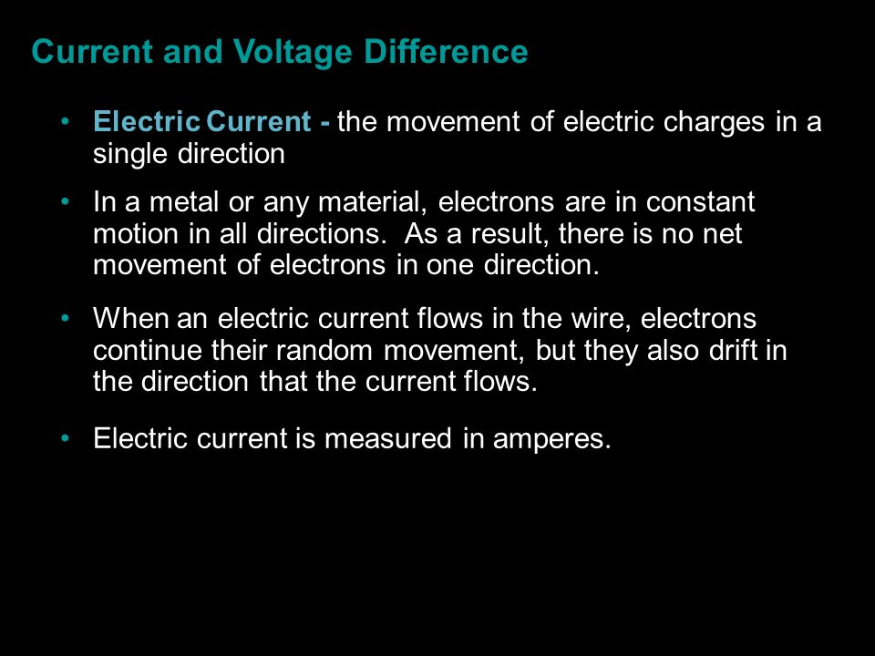 Current and Voltage Difference
