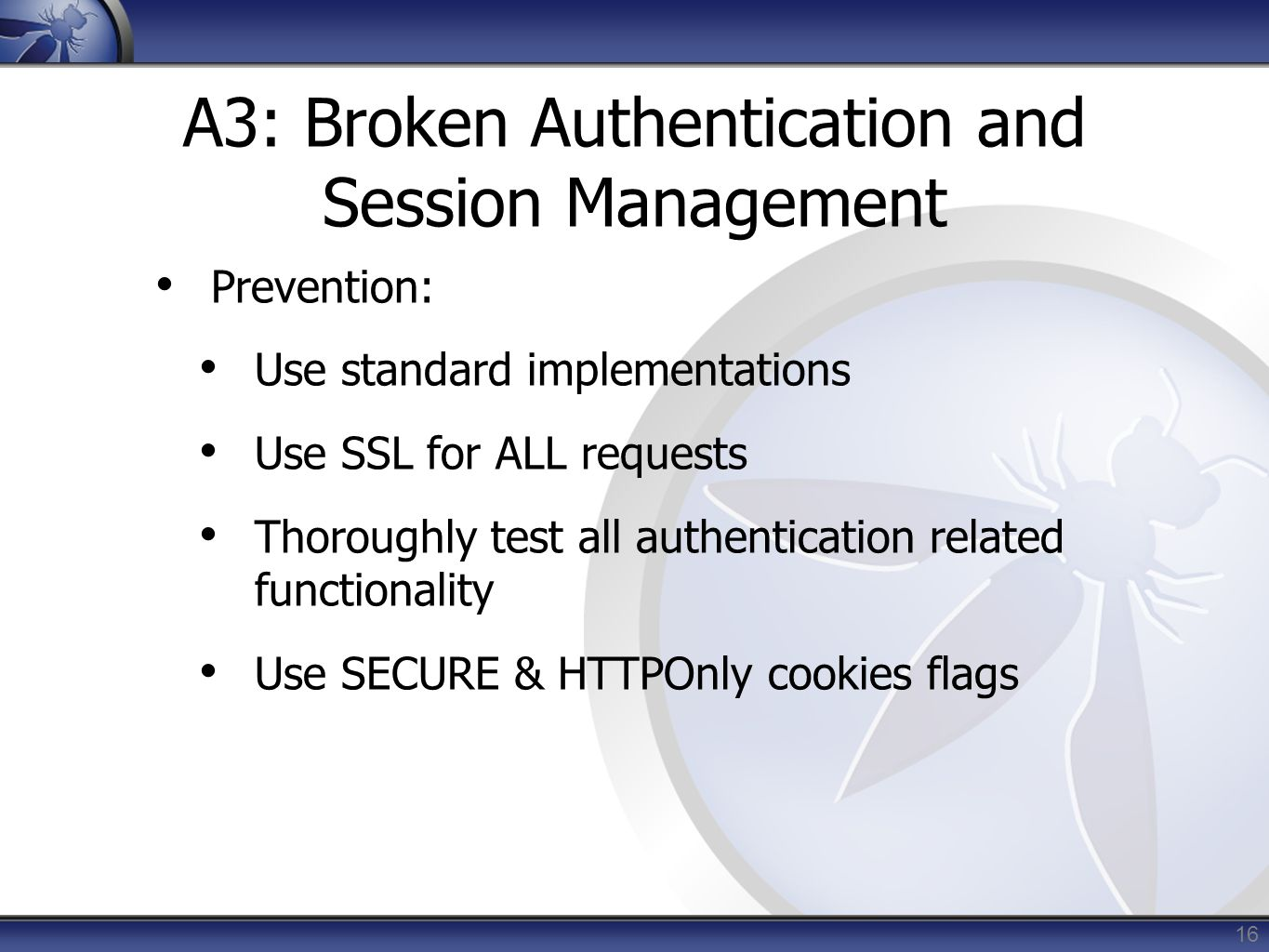 A3: Broken Authentication and Session Management