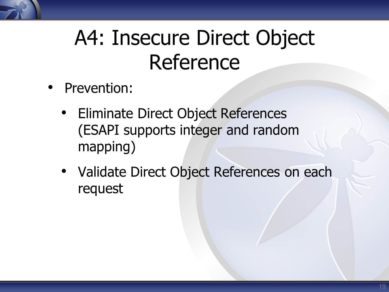 A4: Insecure Direct Object Reference