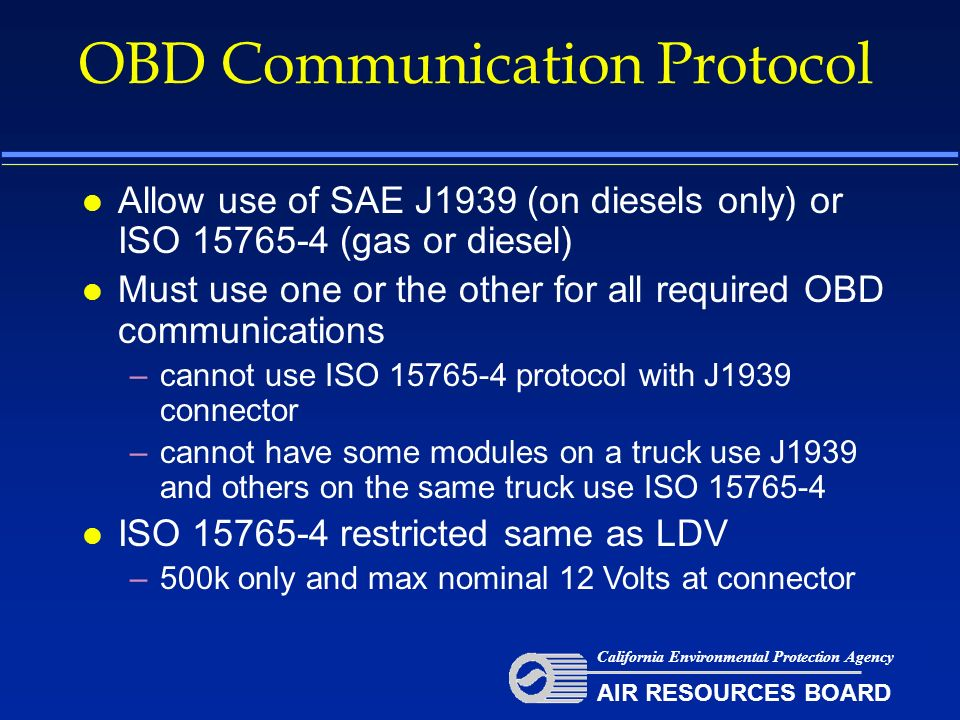 OBD Communication Protocol - ppt download