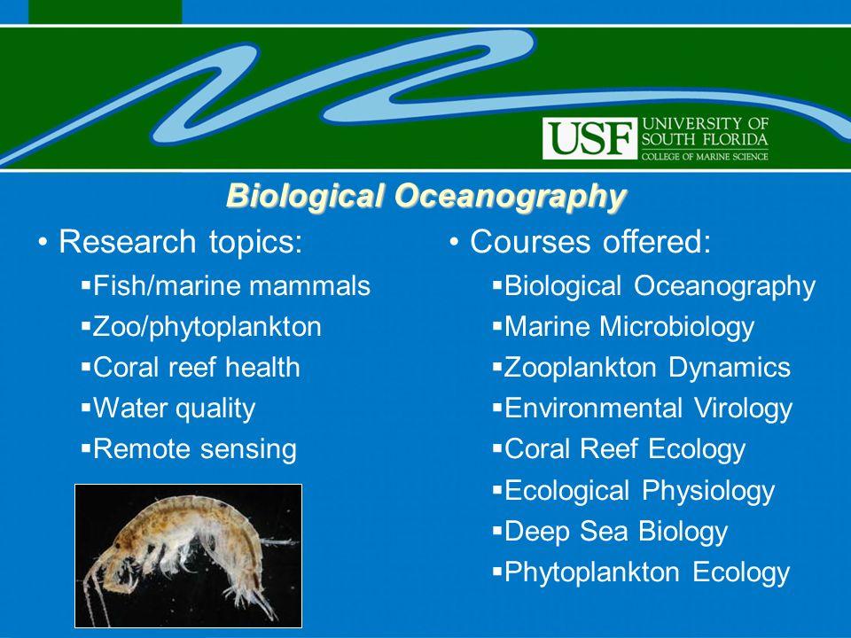 oceanography topics
