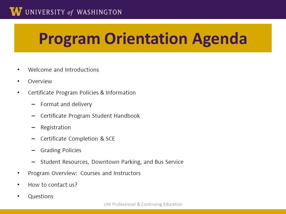 Certificate Program Orientation Ppt Download