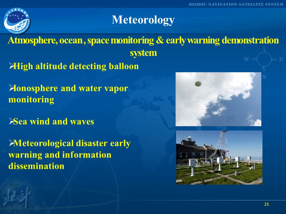 Meteorology Atmosphere, ocean , space monitoring & early warning demonstration system. High altitude detecting balloon.