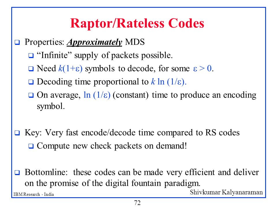 Raptor/Rateless Codes