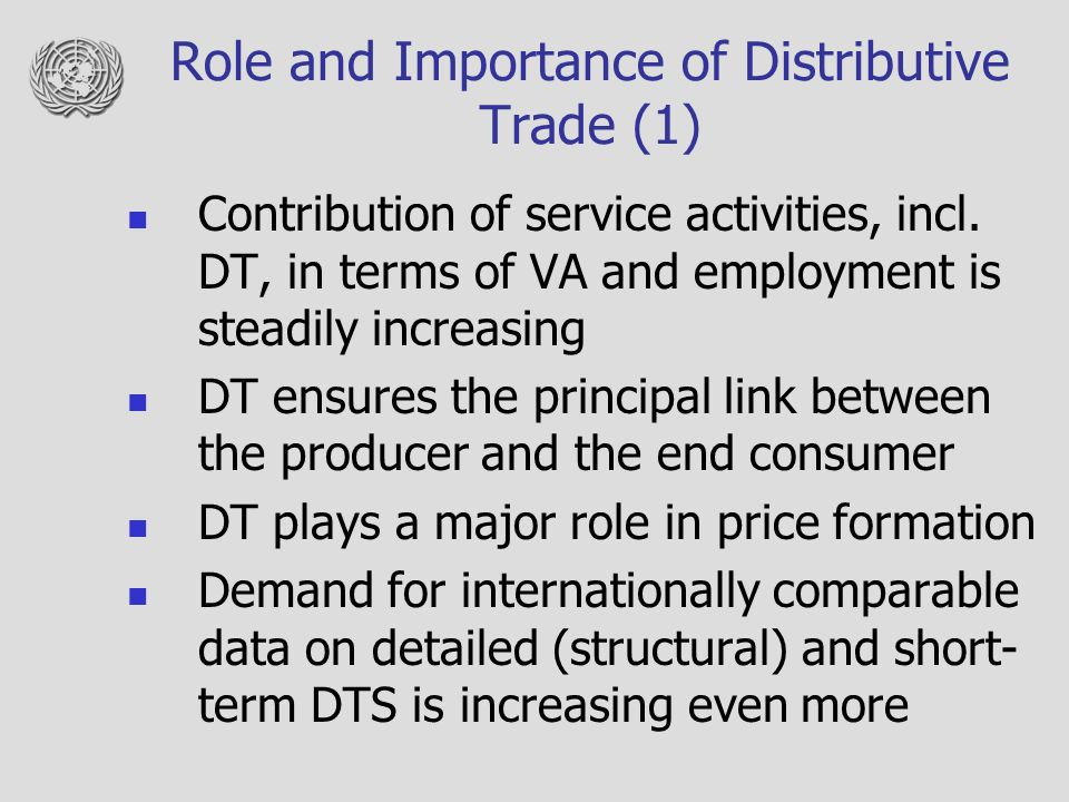 role and importance of distributive trade statistics workshop for