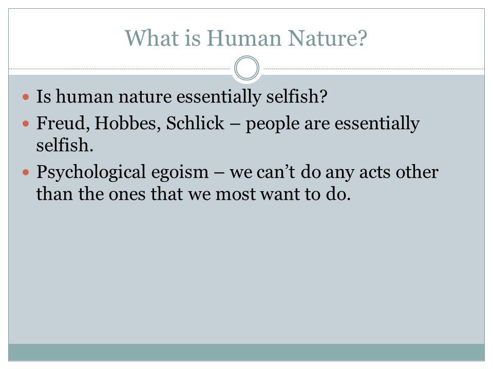 human nature according to hobbes