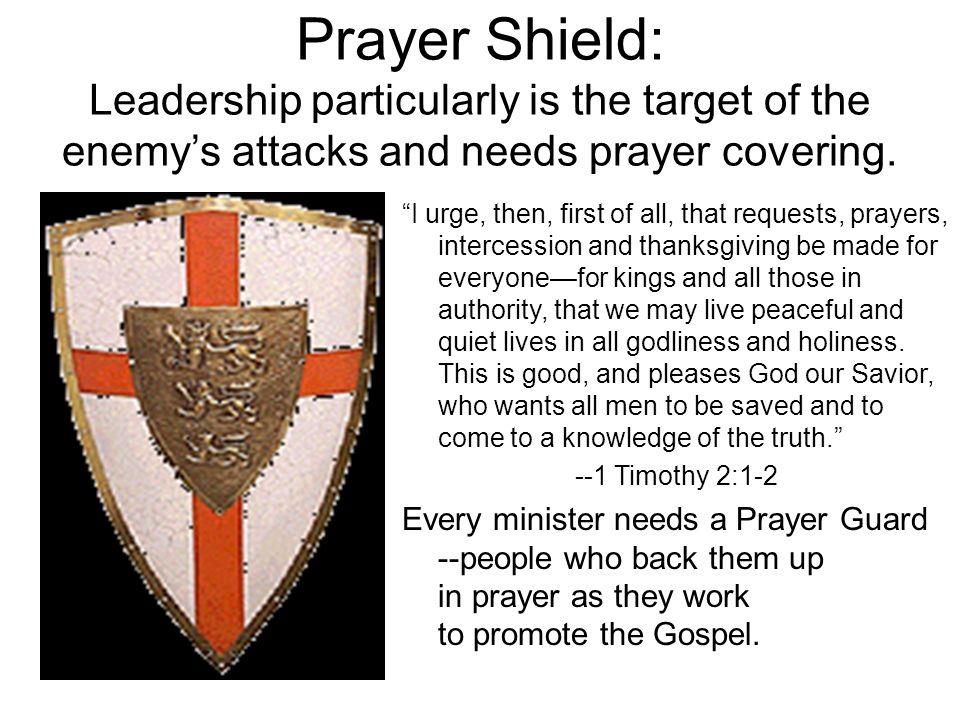 Prayer Shield: We are in a spiritual battle