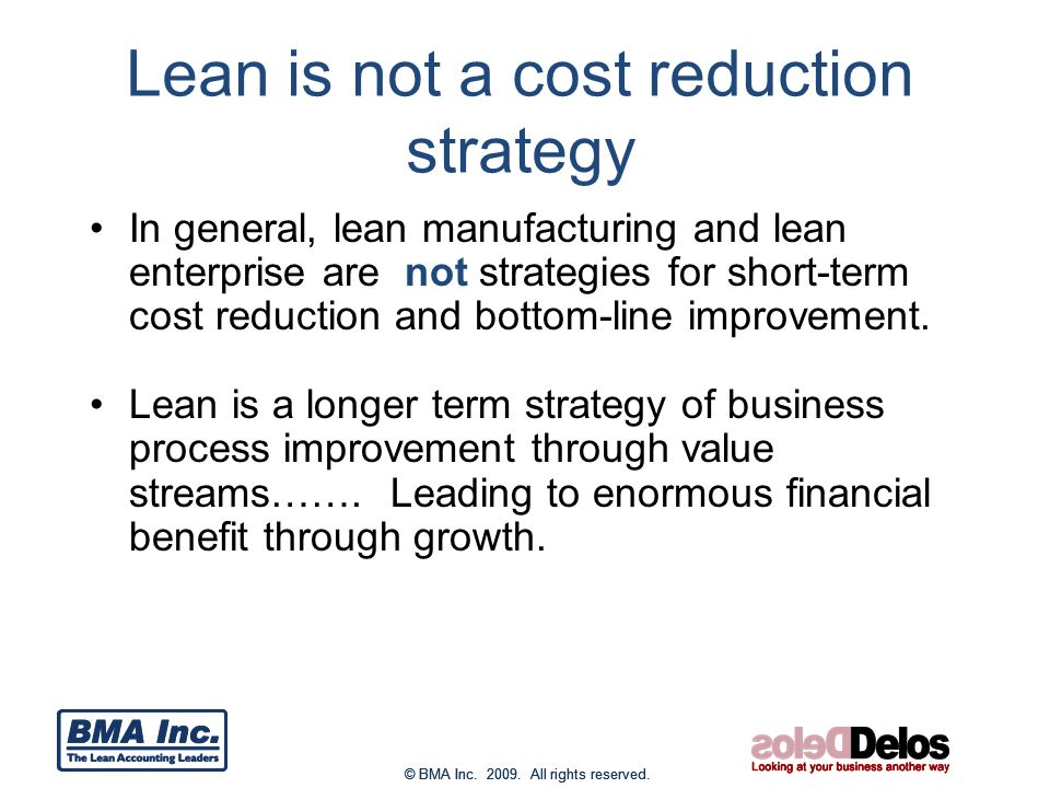 benefits of lean accounting