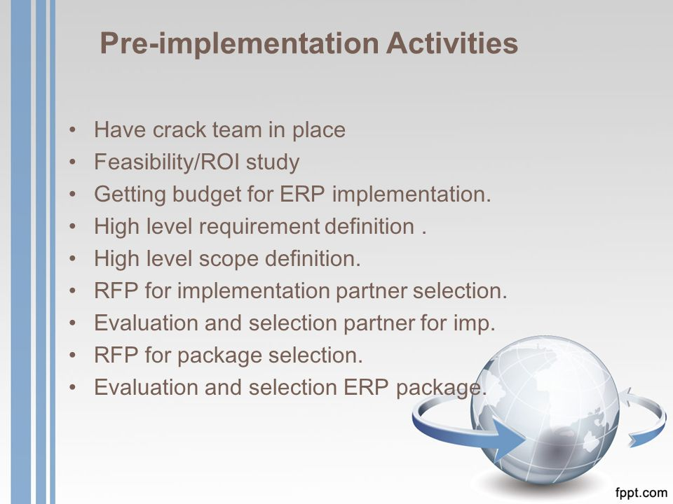 ERP Lifecycle  - ppt video online download