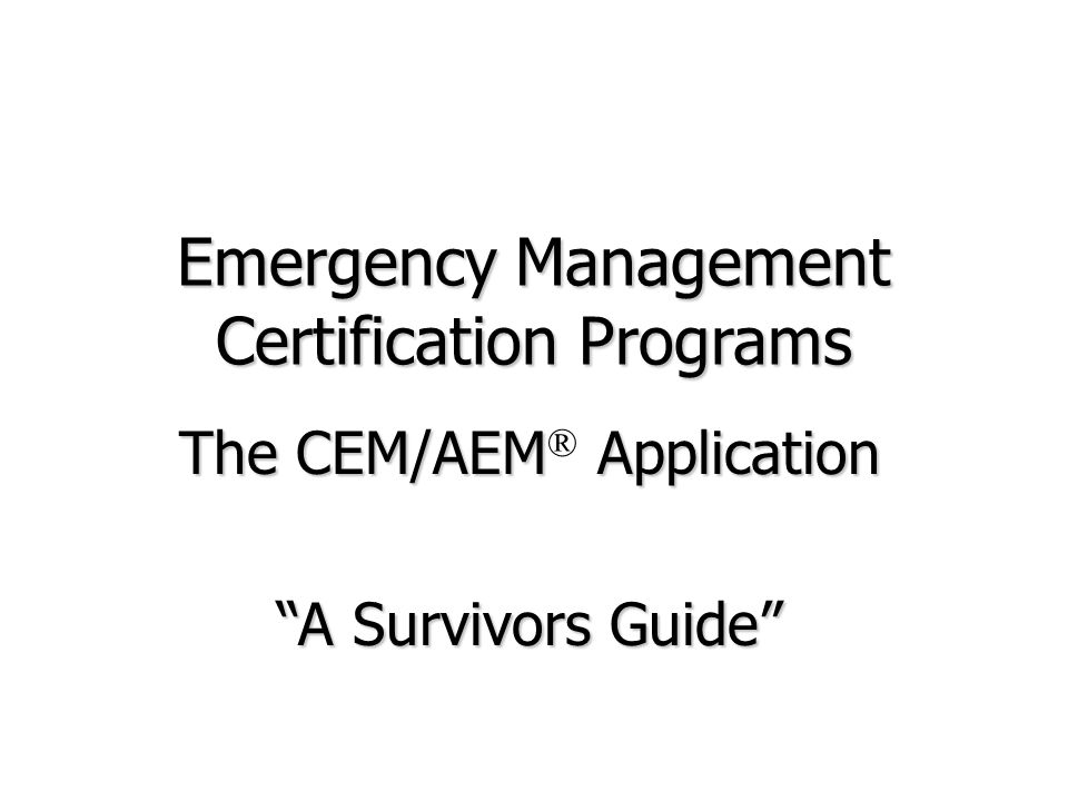 Professionalism in Emergency Management - ppt download