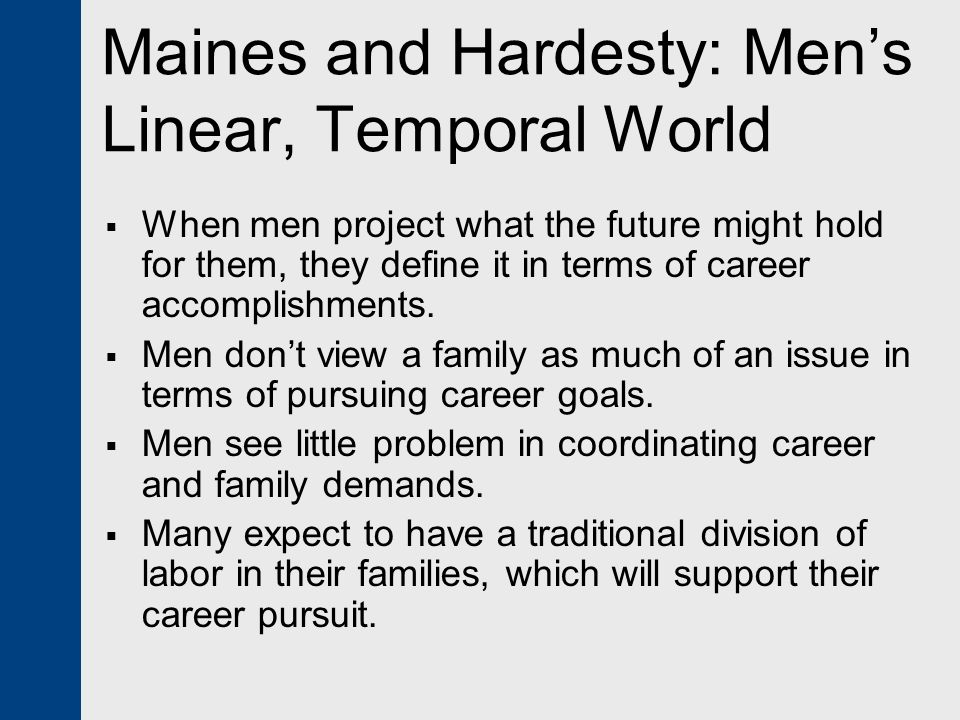 Maines and Hardesty: Men's Linear, Temporal World