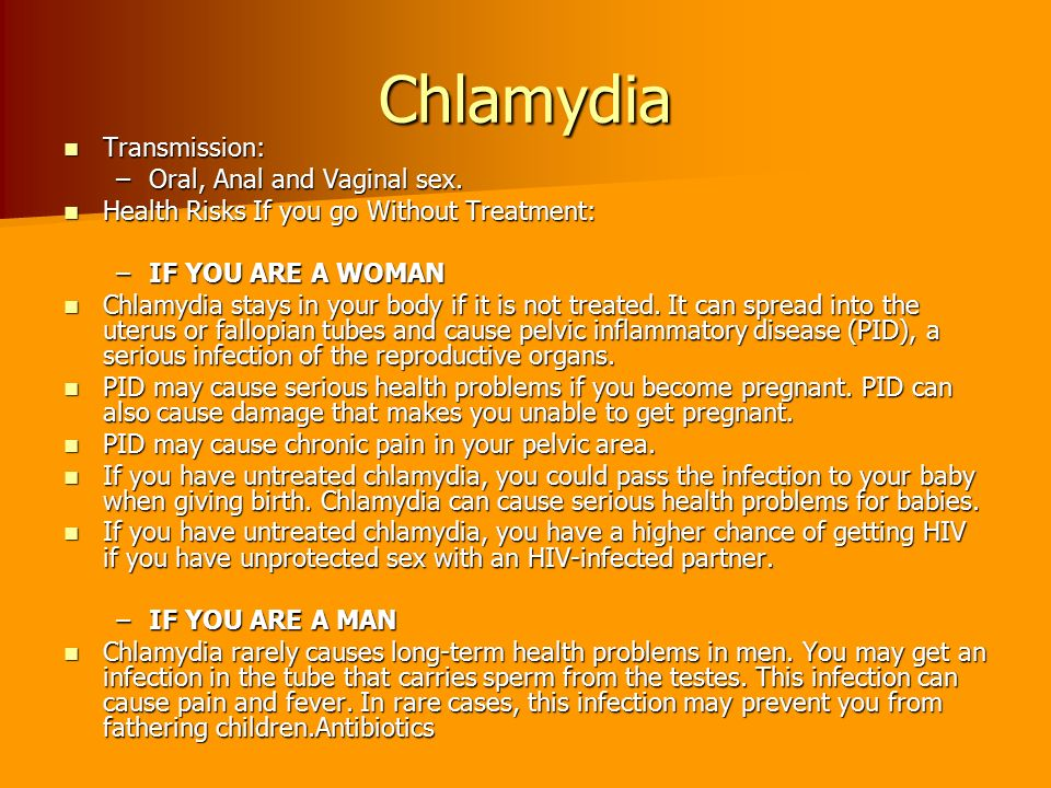 Can you get chlymidia from oral sex
