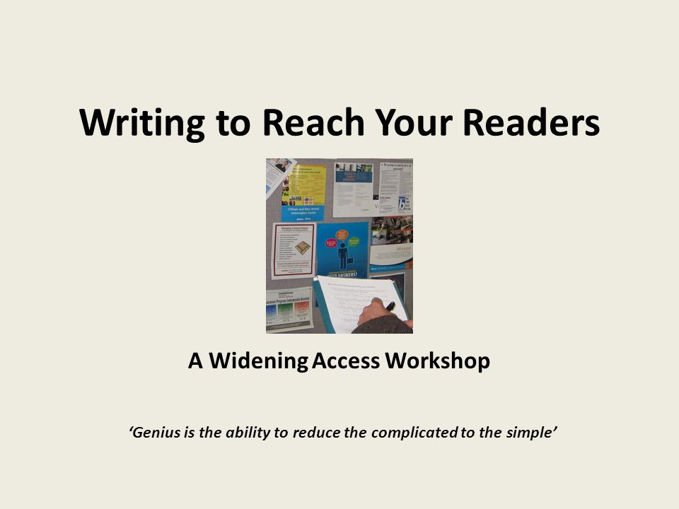 Writing to Reach Your Readers
