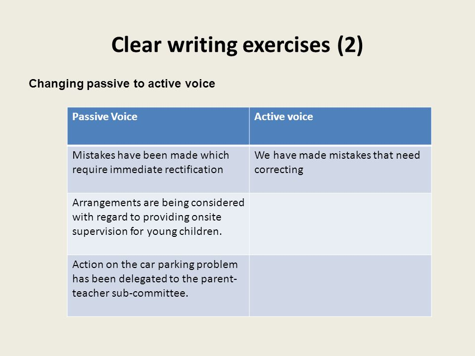 Clear writing exercises (2)