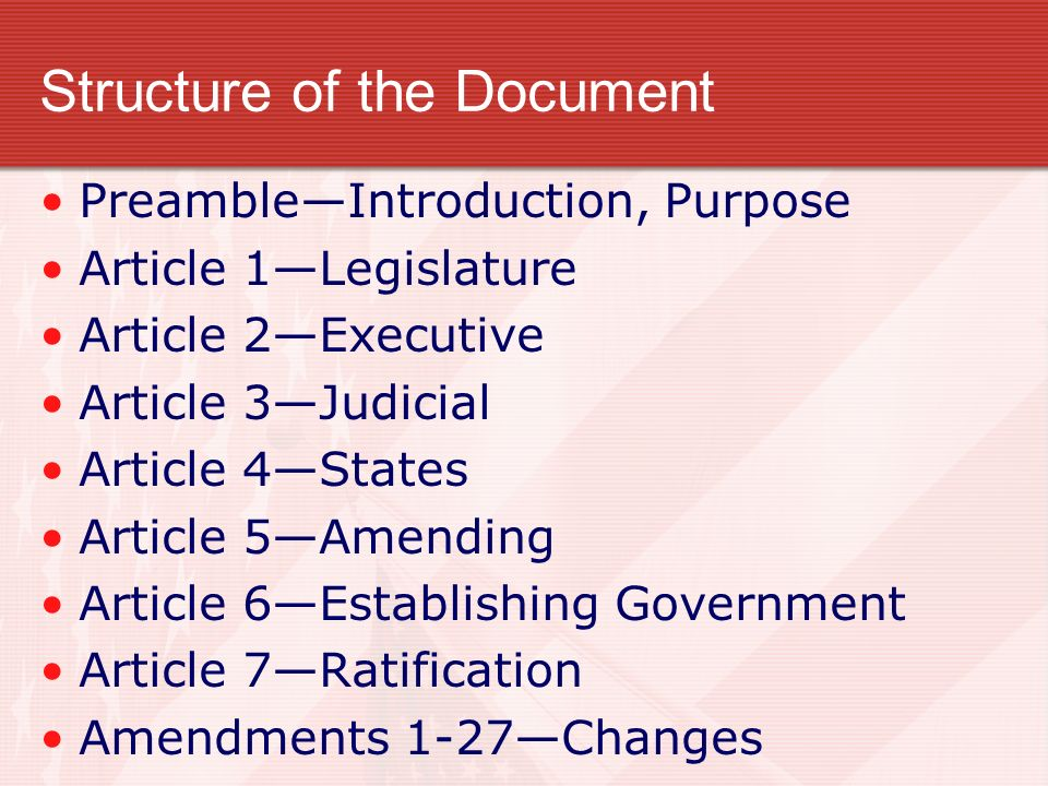 Structure of the Document