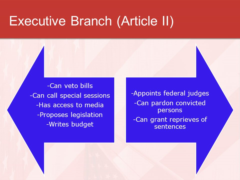 Executive Branch (Article II)