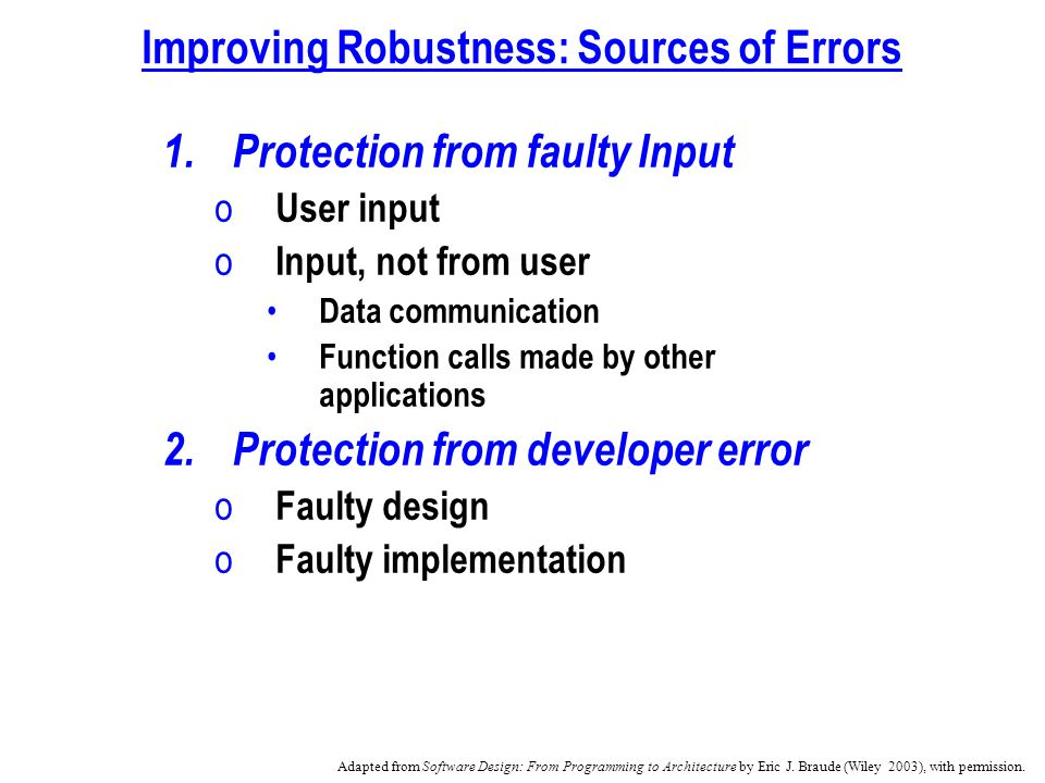 Chapter 4 Design Principles I Correctness And Robustness Ppt Video Online Download