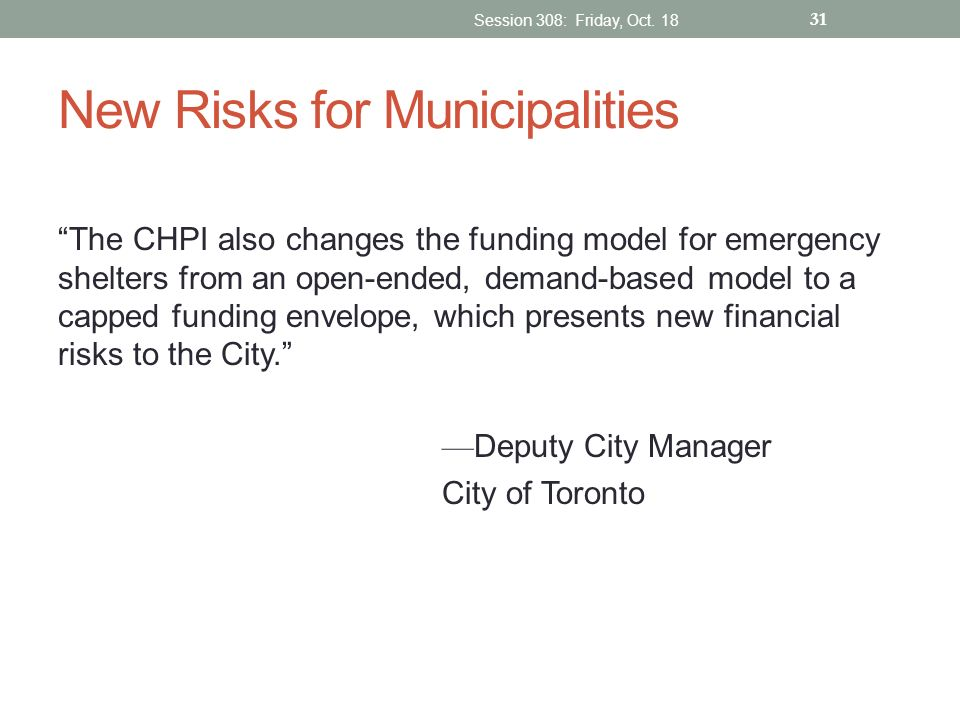 New Risks for Municipalities