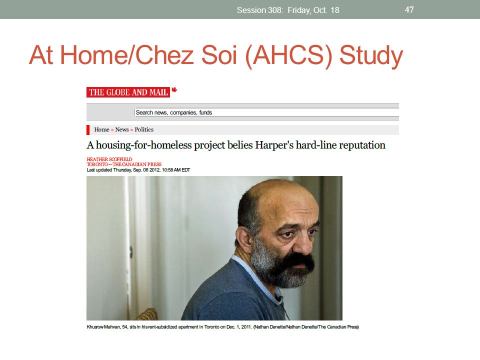 At Home/Chez Soi (AHCS) Study