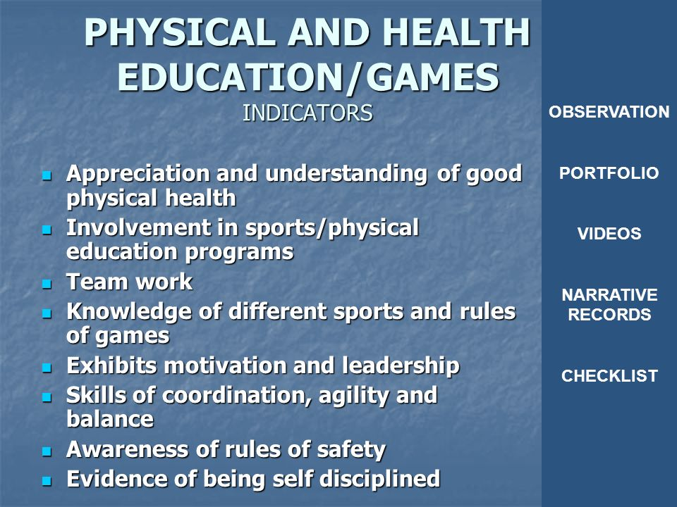 quality physical health education programme in nigeria essay 1,2, department of physical and health education college of education, azare 3, department of physical and health education college of education, waka-biuborno state abstract: supervision of instruction has been a neglected aspect of school management in nigeria.