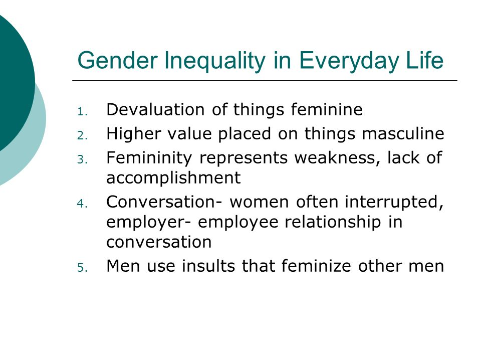 Gender Inequality in Everyday Life