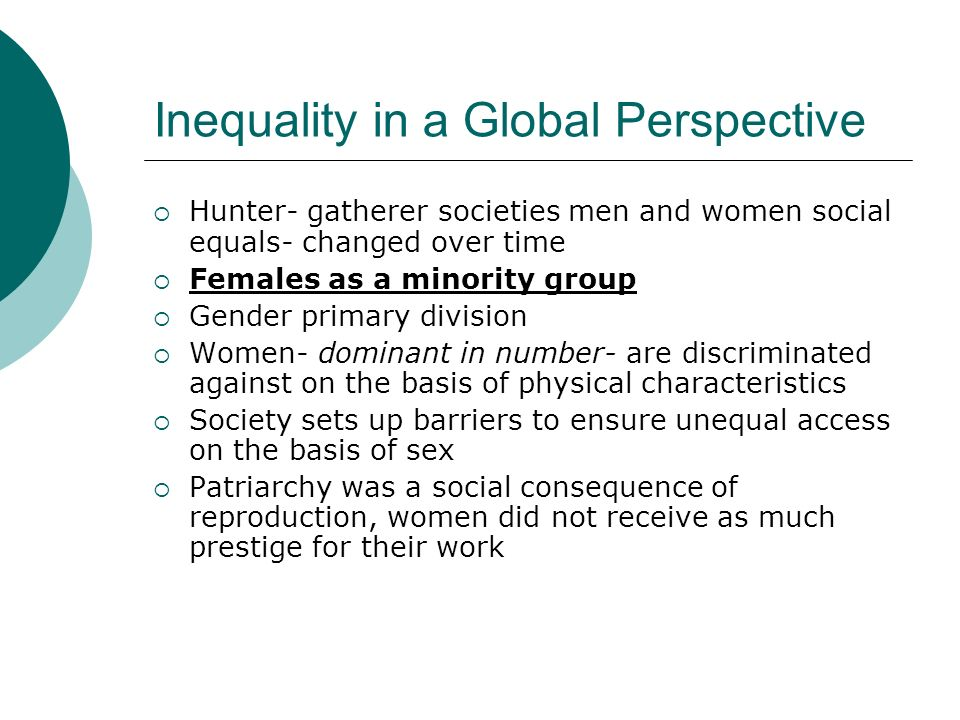 Inequality in a Global Perspective