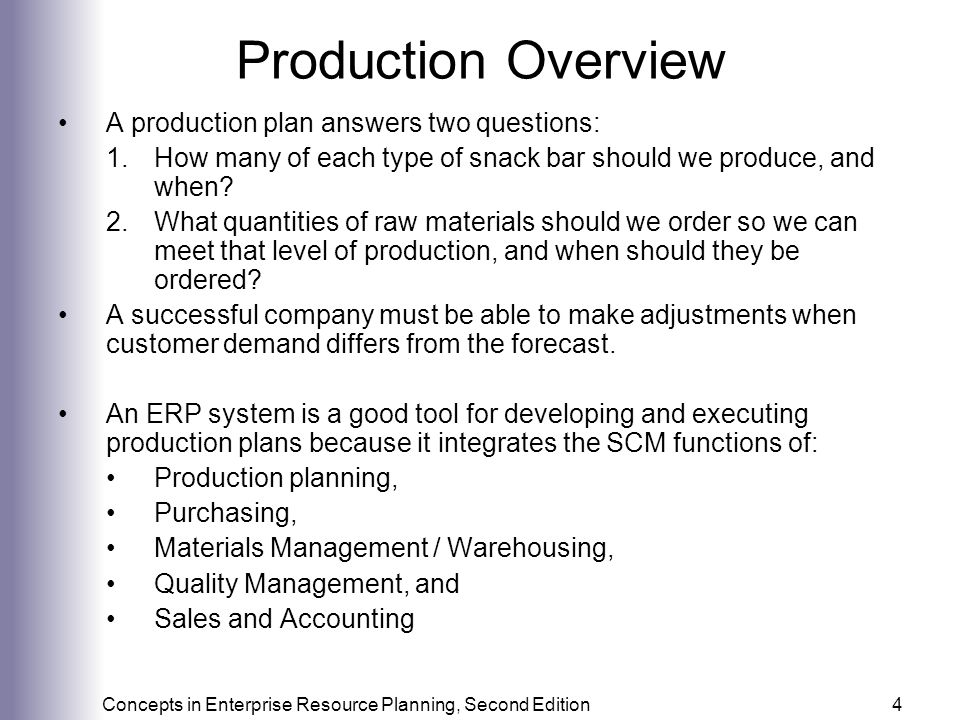 Production and Supply Chain Management Information Systems - ppt